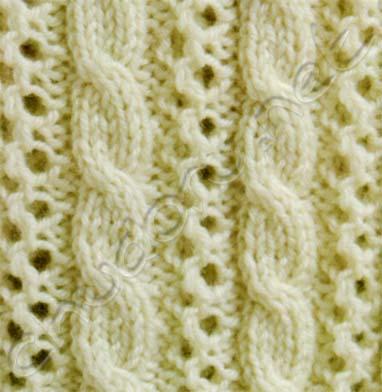 Одеяло с ажурными узором и «косами» :: ChudoRu.net