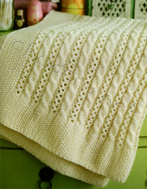 Подушки и одеяло спицами